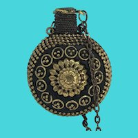 Amazing Antique Perfume / Fragrance Bottle Pendant Necklace on Brass Chain