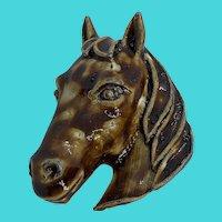 Fun Vintage Horse Head Brooch / Pin
