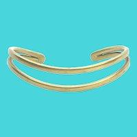 Vintage Brass Small Open Cuff Bracelet