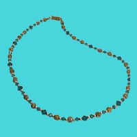 """Stunning 19"""" Vintage Necklace with Small Cloisonne Enameled Beads"""