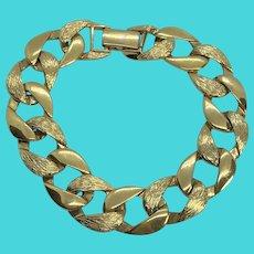 """Golden Vintage NAPIER Link Bracelet - 7.75"""" Long"""