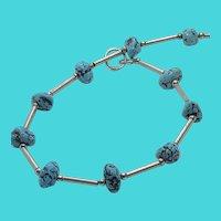 """Stunning Vintage Southwestern Sterling Silver & Genuine Turquoise 8"""" Bracelet"""
