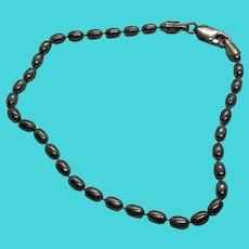 "JAD Signed 925 Sterling Silver Ball Bead Vintage 8"" Bracelet - Italy"