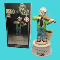 Emmett Kelly Jr. Collection Sad Clown Music Box Musical Figurine Flambro Imports