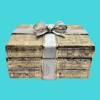 Music Box Dancer Sankyo Music Trinket Box Shaped Like a Gold & Silver Present