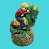 1974 Spencer Gifts Puff The Magic Dragon Music Box Musical Figurine - Japan