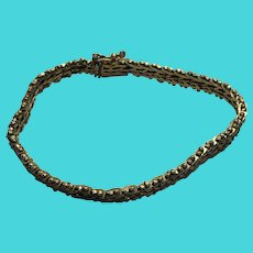 "Gold Over Brass Vintage Mid Century 7"" Bracelet - marked 14K CH"