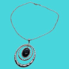 ATI Mexico Vintage 925 Sterling Silver Pendant Necklace on Sterling Chain