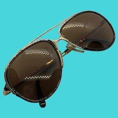 Carrera Vintage 1980's Aviator Sunglasses - Gold Frames