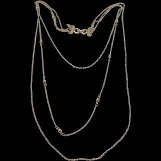 Park Lane Multi Strand Vintage Gold Tone Chain Necklace - Three Chains