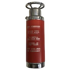 """Vintage Music Box Decanter Musical Fire Thirst Extinguisher Plays """"How Dry I Am"""""""