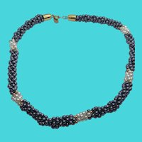 """Park Lane 18"""" Faux Pearl Twisted Multi-Strand Torsade Necklace"""