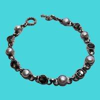 JGD Janice Girardi Sterling Silver & Gemstone Toggle Clasp Tennis Bracelet