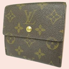 Vintage (1997) Louis Vuitton Monogrammed Elise Trifold Double Sided Wallet