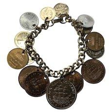 Vintage Coin Bracelet 1959-1960's - Elizabeth Regina South Africa +