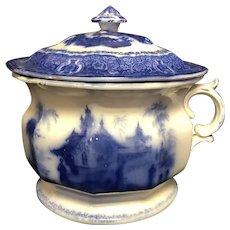 """10 1/4"""" Flow Blue Chamber Pot"""