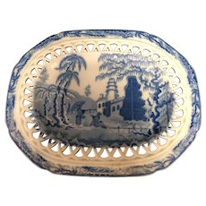 """9 1/2"""" Staffordshire Reticulated Tray"""