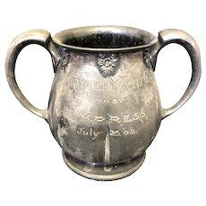 """6 1/8"""" 1902 Norwalk Yacht Club Loving Cup Trophy"""