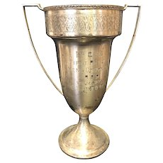 """10 1/2"""" 1929 Plainfield Country Club Tennis Loving Cup Trophy"""