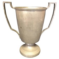 "6 7/8"" Poland Springs Me Handicap Tennis Loving Cup Trophy"