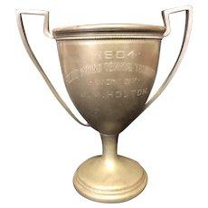 "6 7/8"" 1904 Poland Springs Me Tennis Loving Cup Trophy"