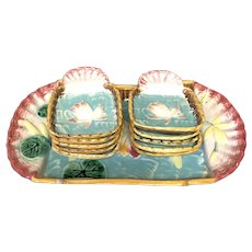 11pc Majolica Ice Cream Set