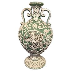 "9"" Nippon Moriage Vase"