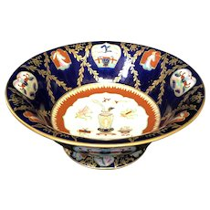 """10 1/4"""" Mason's Ironstone Hand Painted Compote"""