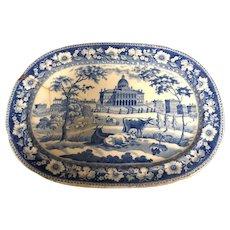 "8"" Boston State House Staffordshire Platter"