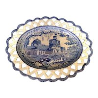 """10 1/4"""" Reticulated Staffordshire Platter"""