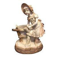 "10 1/8"" Royal Rudalstadt Figurine w/ Basket"