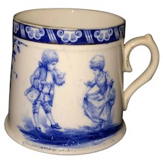 Flow Blue Mug w/ Children