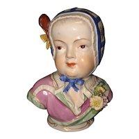 """5 5/8"""" Carl Thieme Dresden Female Bust"""