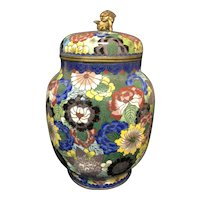 """7 1/4"""" Chinese Cloisonné Covered Jar"""