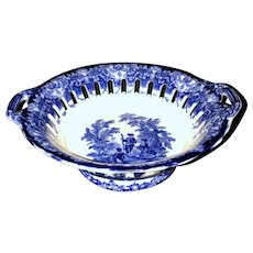 Watteau Flow Blue Compote