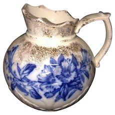 """6 1/4"""" Floral Flow Blue Pitcher"""