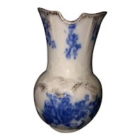 "5 1/2"" Floral Flow Blue Toothbrush Holder"