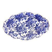 """13 1/4"""" Flow Blue Floral Tray"""