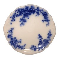 "9 7/8"" Floral Flow Blue Cake Plate"