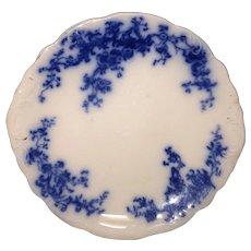 "9 7/8"" Floral Flow Blue Cake Plate"
