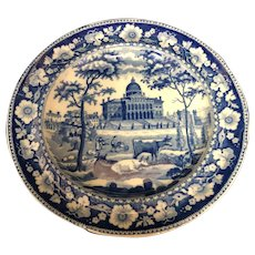 """8 1/2"""" Staffordshire Boston State House Plate"""