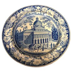 """9 3/4"""" Staffordshire Boston State House Plate"""