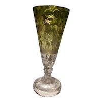 Moser Bohemian Intaglio Cut Glass Goblet