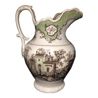 """12 3/4"""" Staffordshire 2 Color Pitcher"""