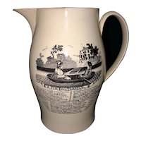 "8 1/2"" Liverpool creamware pitcher"