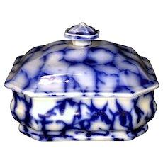 3pc Flow Blue Soap Dish