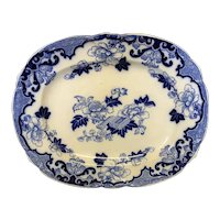 "16 3/8"" Candia Flow Blue Platter"