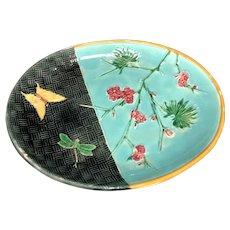 "11 7/8"" Wedgwood Turquoise Majolica Tray"