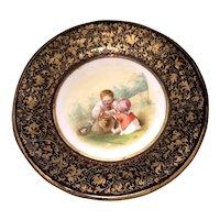 Moser art glass portrait plate