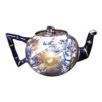 Doulton flow blue teapot